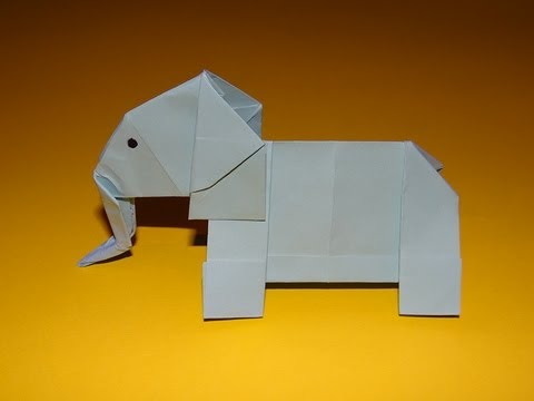 Easy Origami Elephant Youtube
