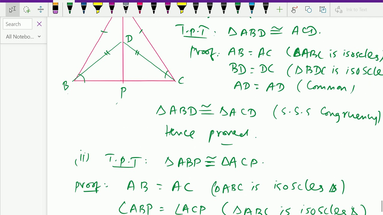 Euclid geometry : - ( Isosceles triangles
