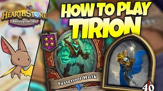 [NEW HERO] How to Build Tirion in Battlegrounds | Firebat Hearthstone