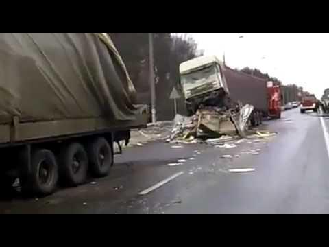 ДТП на 488 километре трассы Москва Санкт Петербург ДТП! Авария! Видеорегистратор
