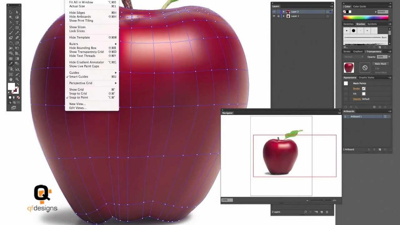 Illustrator gradient mesh beginners tutorial youtube baditri Gallery