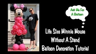 Life Size Minnie Mouse Balloon Decoration Tutorial