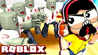 The Mother Zombie - Roblox Roleplay - Escape the Zombie Hospital Obby - DOLLASTIC PLAYS!