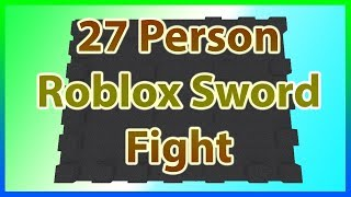 Massive ROBLOX Sword Fight *27 PEOPLE!! * (25,000 Subscriber Special!!)