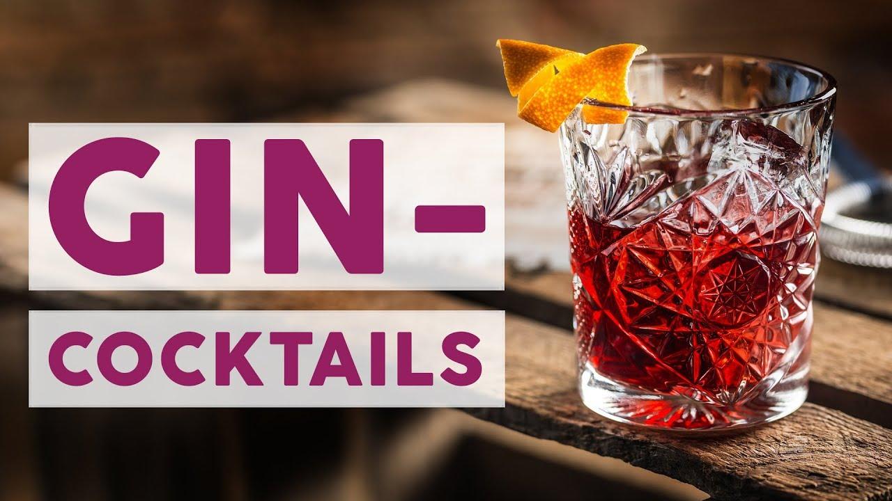 Trendgetränke 2018: 3 beliebte Cocktails mit Gin 🍸 | REZEPTE - YouTube