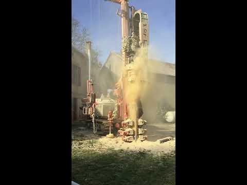 Forage pour l'installation d'une sonde géothermique - Novembre 2016