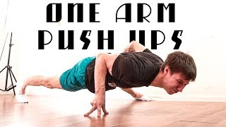 ONE ARM PUSH UPS TUTORIAL!