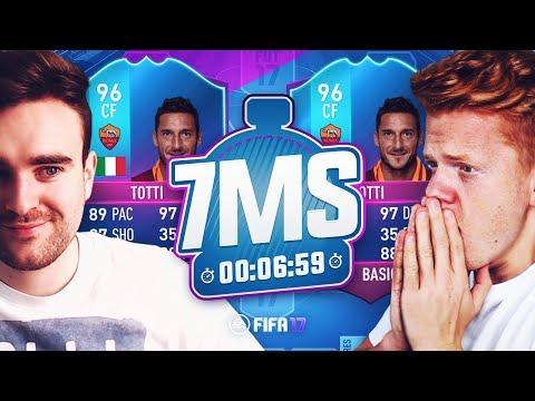 END OF AN ERA 96 TOTTI 7 MINUTE SQUAD BUILDER VS AJ3!! - FIFA 17 ULTIMATE TEAM