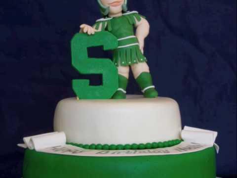 Michigan State Sparty Birthday Cake