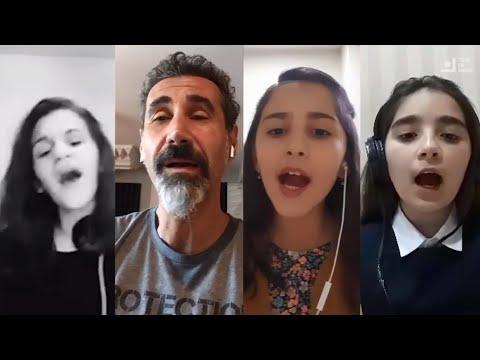 Serj Tankian Sings 'Bari Arakeel' With Armenian Kids (2021)