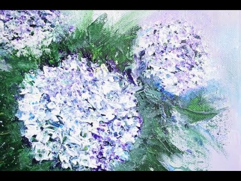 hortensie blumen malen ganz einfach flower painting v134 youtube. Black Bedroom Furniture Sets. Home Design Ideas