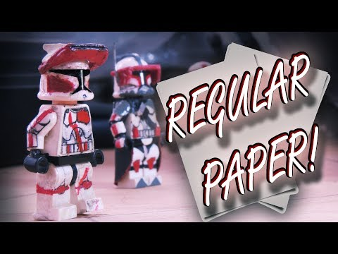 Decal LEGO Figures with PAPER!