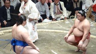 20140923 大相撲秋場所10日目 逸ノ城vs嘉風.