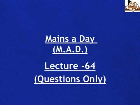 Answer Writing for UPSC Mains || Civil services || IAS - Day 64 (Questions Only)
