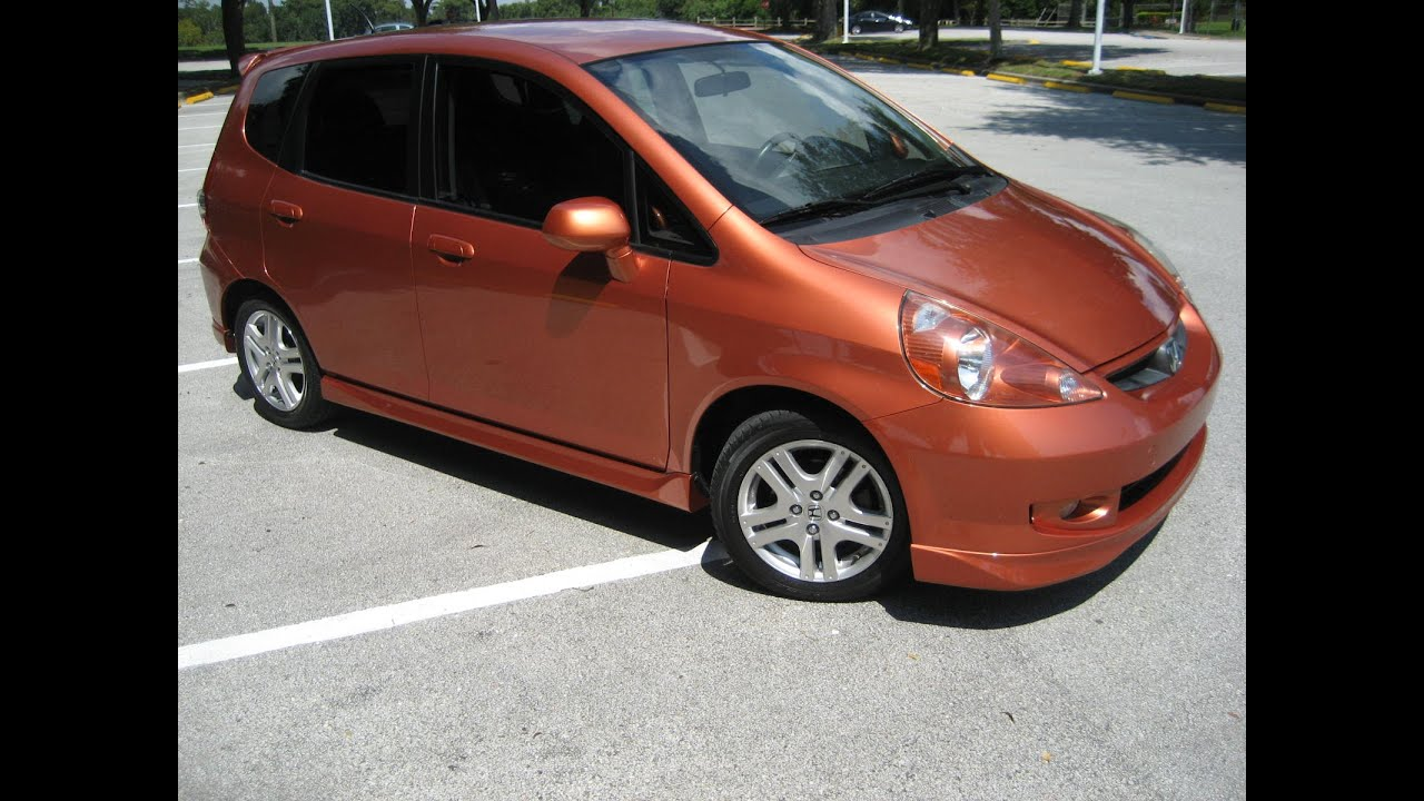 2008 HONDA FIT SPORT 5DR CLEAN CARFAX FL CAR PADDLE SHIFTERS