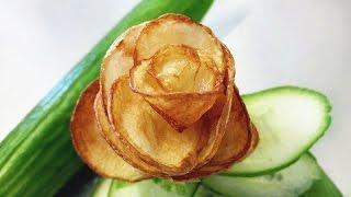 How to Make Fried Potato Chip Rose