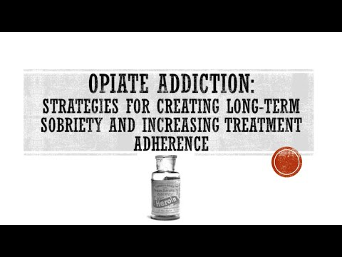 Webinar | Opiate Addiction: Strategies for Creating Long-Term Sobriety