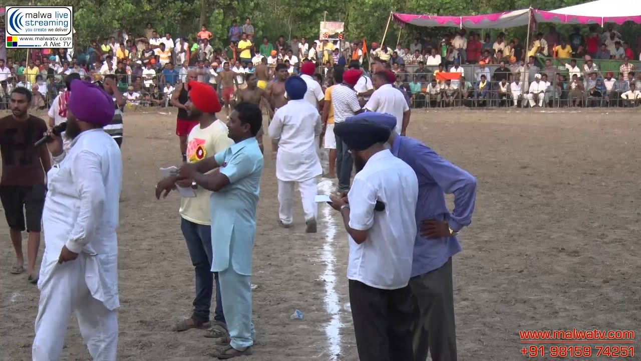 Kabaddi Tournament (HD) SIKRI (Hoshiarpur)  AUG - 2014. Part 3rd.