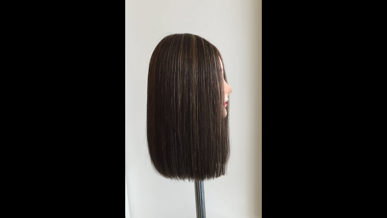 Carve and slice haircut review one length hair cut using