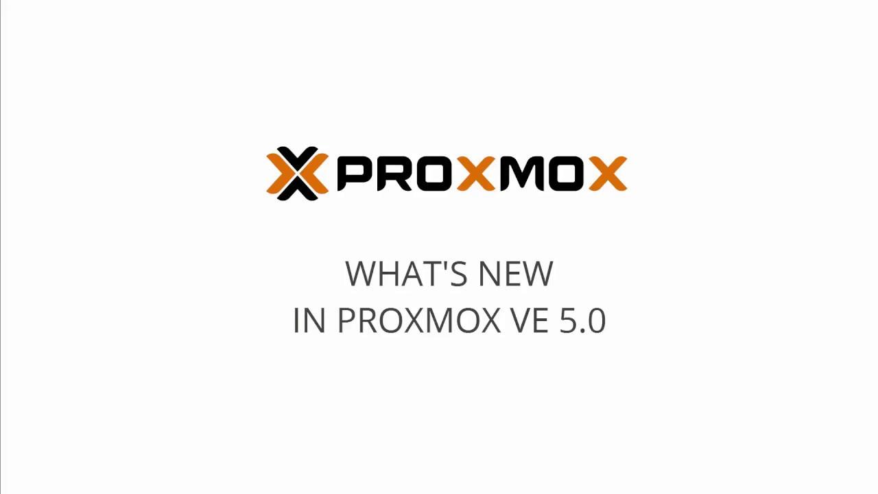 Proxmox VE open source virtualization - features