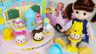 Play doh and Baby doll Ice Cream shop cooking play - 토이몽