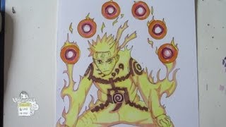 How to draw Naruto Kyuubi mode ナルト