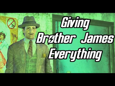 Fallout 4. Joining the Pillars of the community. Giving Brother James everything.