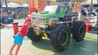 Kids Ride on the Big Truck at the Playground