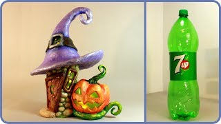 ❣DIY Halloween Fairy House Lamp Using a Plastic Bottle❣