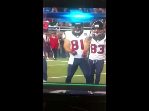 Owen Daniels Cooking Dance Td Celebration