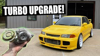 homepage tile video photo for Evo III gets a BIG TURBO upgrade! - Install Pt. 1