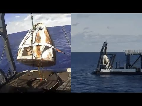 Crew Dragon recovery from the Atlantic Ocean