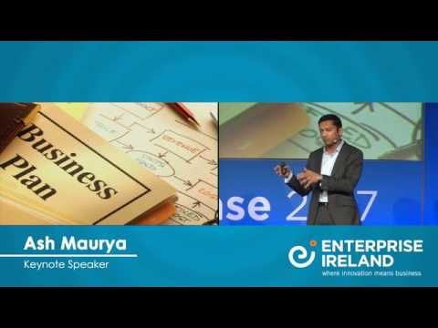 The Lean Start-up - Ash Maurya's keynote speech at Start-up Showcase 2017