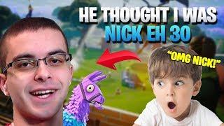 I Convinced A Kid I Was NickEh30 (Fortnite Battle Royale)