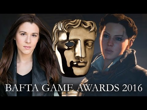 Victoria Atkin Evie Frye with The Sound Architect at the BAFTA Games Awards 2016
