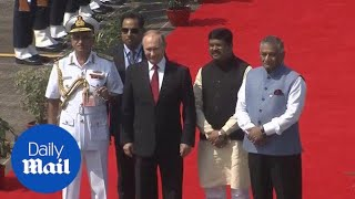 President Vladimir Putin arrives in Goa for the BRICS summit - Daily Mail