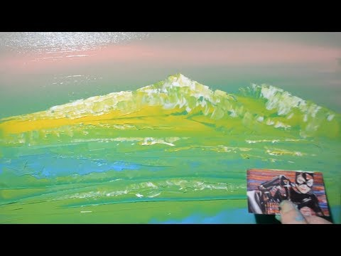 Peaceful Landscape / Easy Abstract Painting Demo / Satisfying / For Beginners