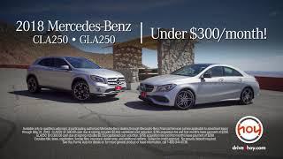 Mercedes-Benz of El Paso CLA & GLA For Under $300 May Special :15 seconds