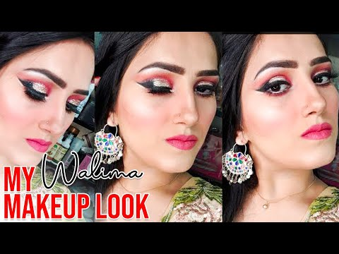 My Walima Makeup Look | Easiest Smokey Eye With Glitter | How To Makeup