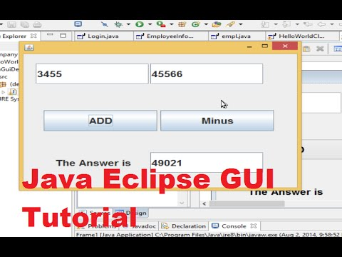 Java Eclipse GUI Tutorial 1 # Creating  First GUI Project in