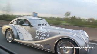 Gumball 3000 Morgan Aeromax on Belgium highway HD 1080p