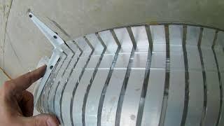 Монтаж безщелевого профиля для двухуровневого потолка