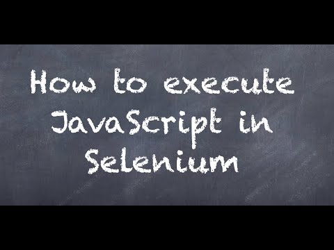 Java-Selenium | Interacting with the browser | Executing