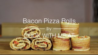 Bacon Pizza Rolls - #eggtoberfest - Cook With Me.at