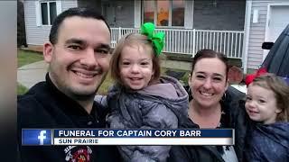 Funeral held for Sun Prairie firefighter Cory Barr
