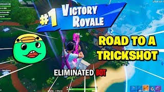 The EASIEST way to hit Fortnite Trickshots... (Road to a ONE SHOT Trickshot)