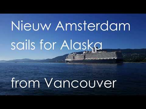 "Holland America ""Nieuw Amsterdam"" sails for Alaska from Vancouver"
