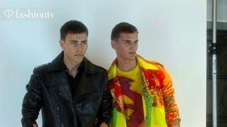 Versace Men Spring/Summer 2014 BACKSTAGE   Milan Men's Fashion Week MFW   FashionTV