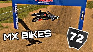 MY FIRST TIME EνER PLAYING MX BIKES! Can I complete a lap without crashing?