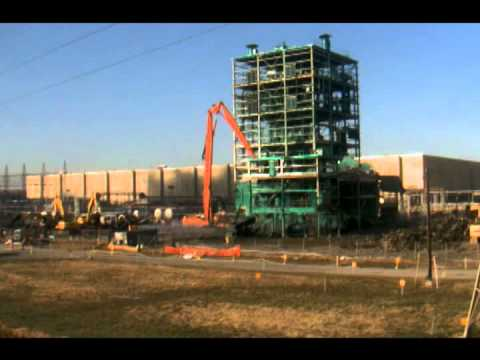 Timelapse Demolition of the Metals Plant at the Paducah Gaseous Diffusion Plant